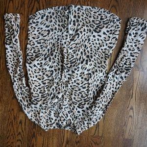 Zara Basics Leopard Top